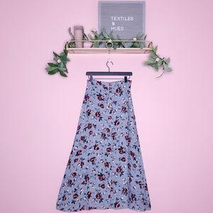 Vintage Woolrich Floral Button Down Maxi Skirt